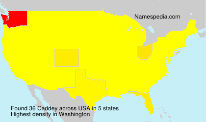 Surname Caddey in USA