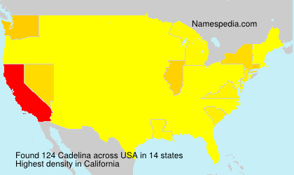 Surname Cadelina in USA