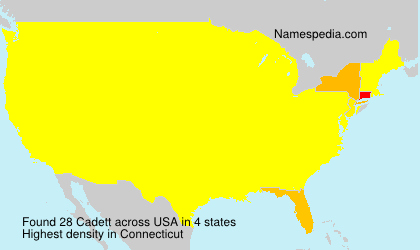 Surname Cadett in USA