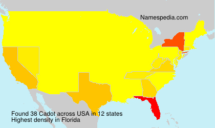 Surname Cadot in USA