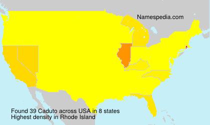 Surname Caduto in USA