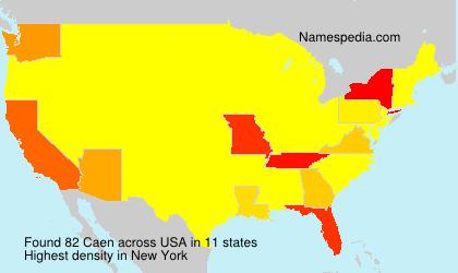 Surname Caen in USA