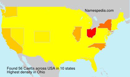 Surname Caetta in USA
