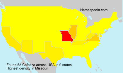 Surname Cafazza in USA