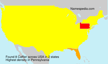 Surname Caffier in USA