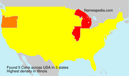 Surname Cahe in USA