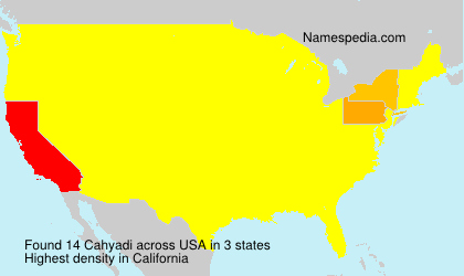 Surname Cahyadi in USA