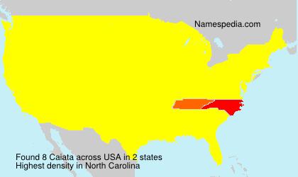 Surname Caiata in USA