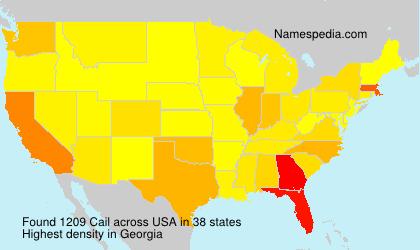 Familiennamen Cail - USA