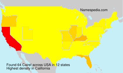 Surname Cairel in USA