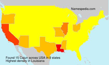 Surname Cajun in USA