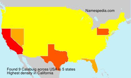 Surname Calabuig in USA