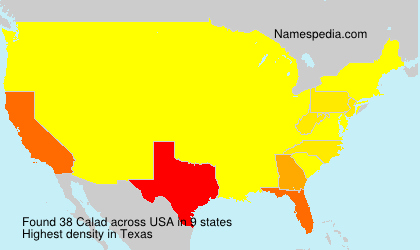 Surname Calad in USA