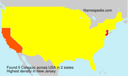 Surname Calaguio in USA
