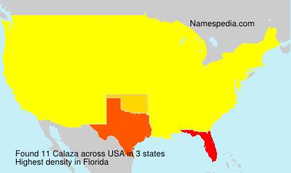 Familiennamen Calaza - USA