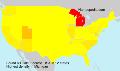 Surname Calcut in USA