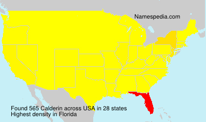 Surname Calderin in USA