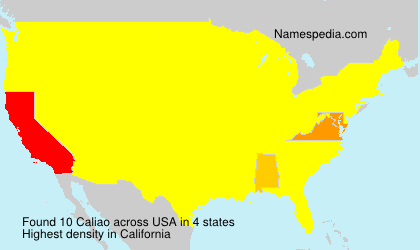 Surname Caliao in USA