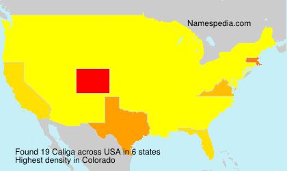 Surname Caliga in USA
