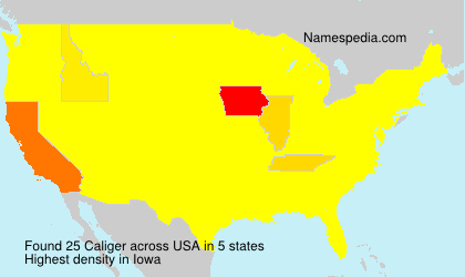 Surname Caliger in USA