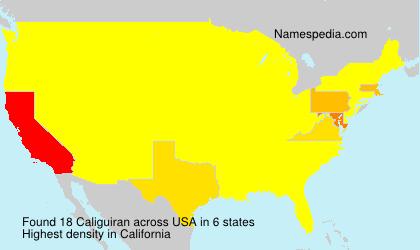 Surname Caliguiran in USA