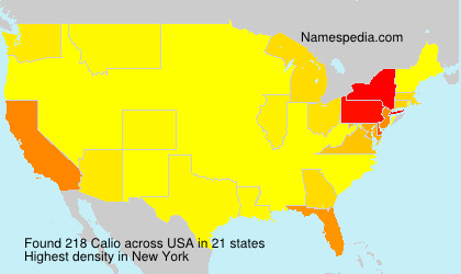 Surname Calio in USA