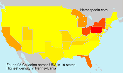 Surname Calladine in USA