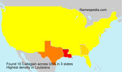 Surname Callagain in USA