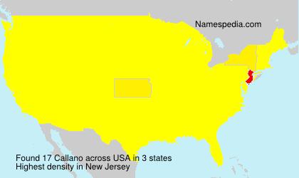 Surname Callano in USA