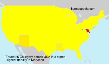 Surname Callegary in USA