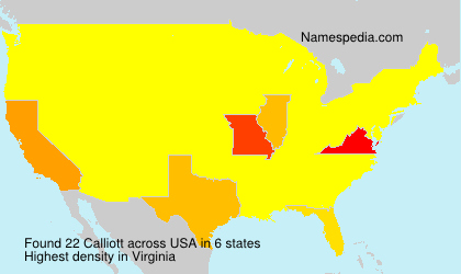 Surname Calliott in USA