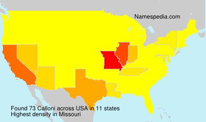Surname Calloni in USA