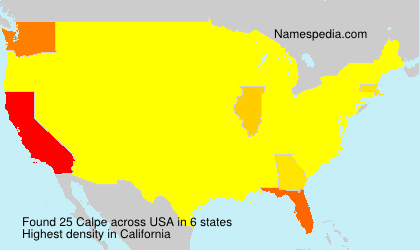 Surname Calpe in USA