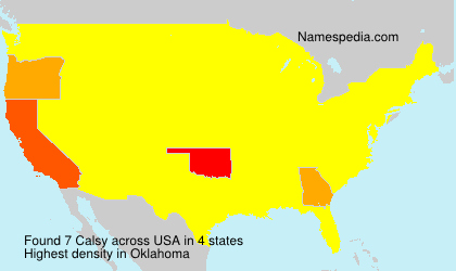 Surname Calsy in USA