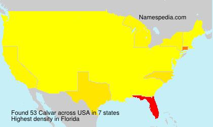 Surname Calvar in USA