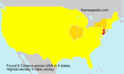 Surname Calyeca in USA