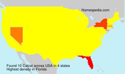 Surname Calzat in USA