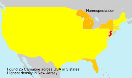 Surname Camaiore in USA