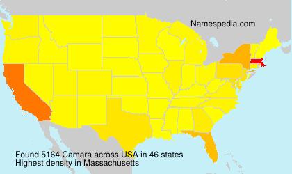 Surname Camara in USA