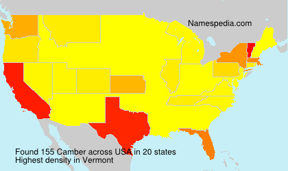 Surname Camber in USA