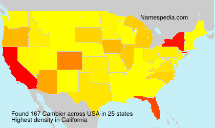 Surname Cambier in USA