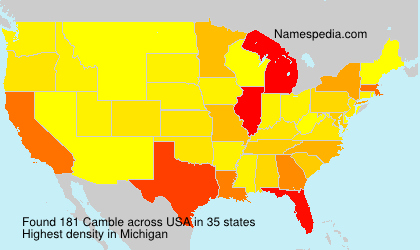Surname Camble in USA