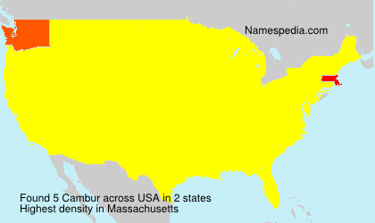 Surname Cambur in USA