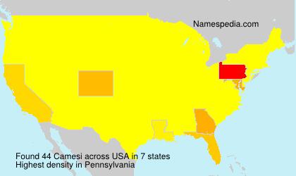 Surname Camesi in USA