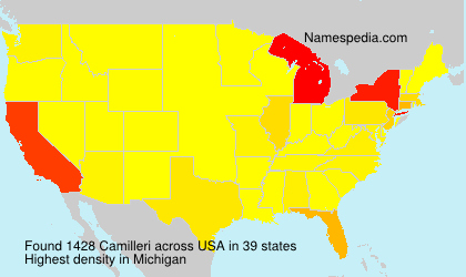 Surname Camilleri in USA