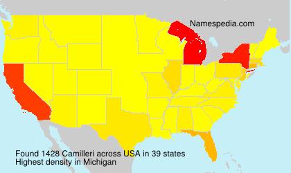 Surname Camilleri in USA