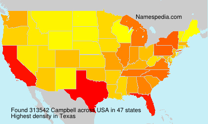 Surname Campbell in USA