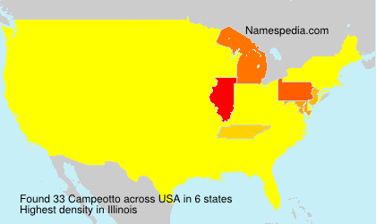Surname Campeotto in USA