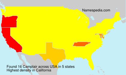 Surname Camplair in USA