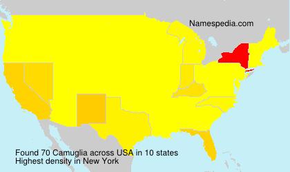 Surname Camuglia in USA